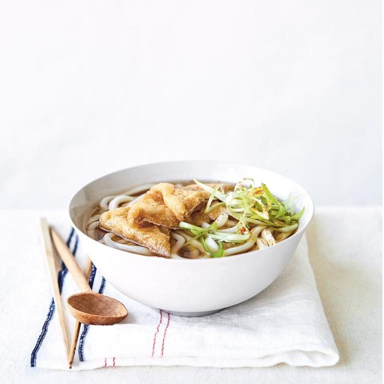 Udon met gebakken tofu