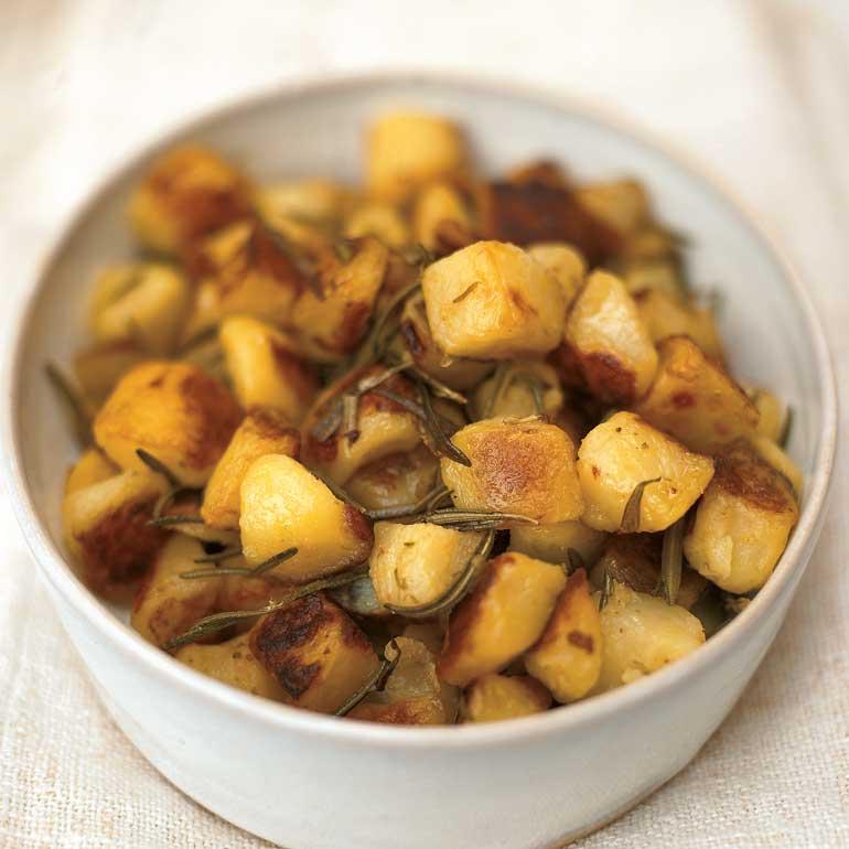 Aardappels uit de oven met rozemarijn