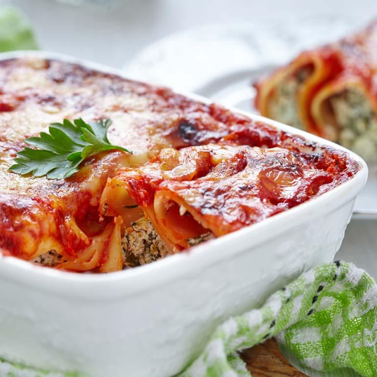 cannelloni met gehakt en ricotta