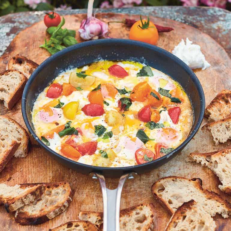 Betere Gebakken eieren met mozzarella recept - Food and Friends AW-42