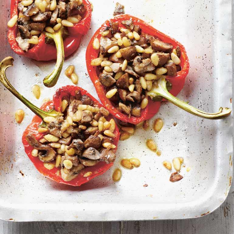 Gevulde paprika's met groente