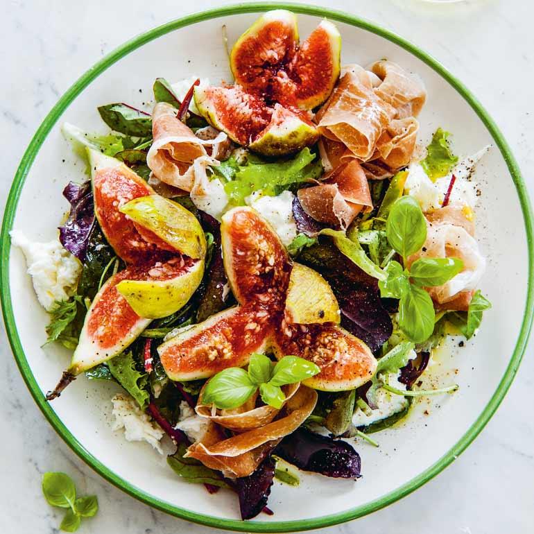 mozzarella salade maken