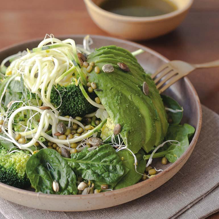 Salade vegan greens