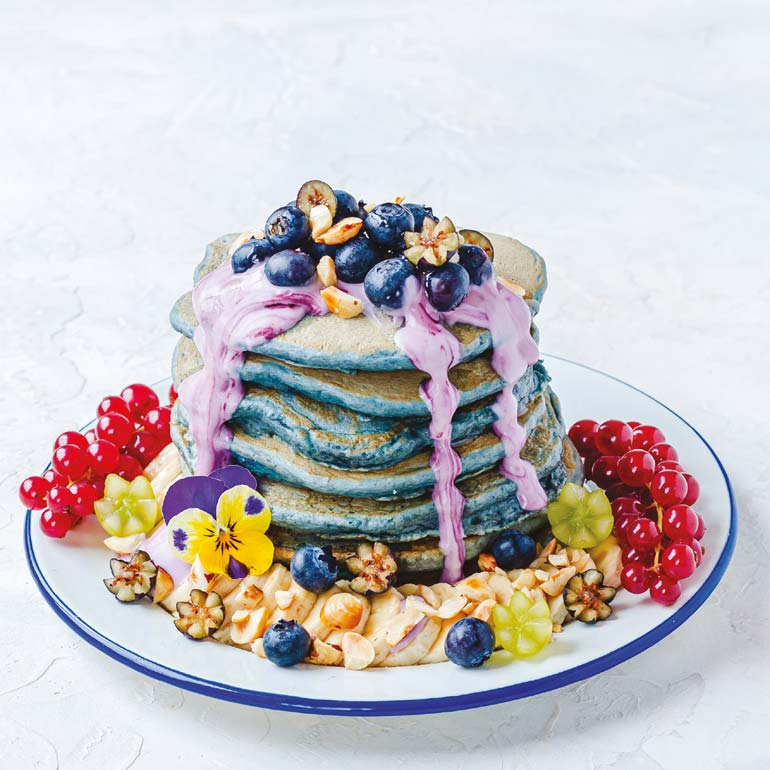 Bosbes-pancakes