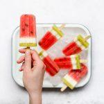 Watermeloen-kiwi-ijslolly