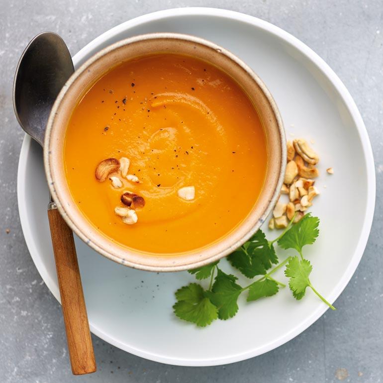 recept soep zoete aardappel