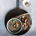 Geurige paddenstoelen-soep