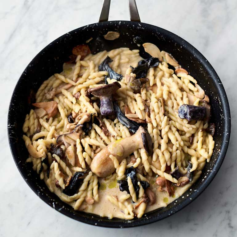 recept pasta met bospaddestoelen