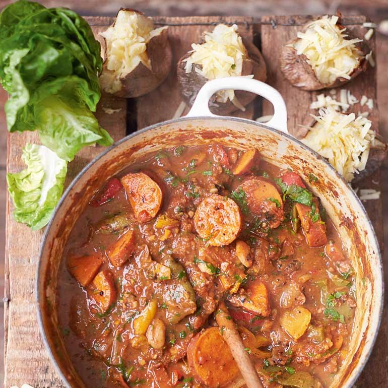 Vegetarische chili van Jamie Oliver