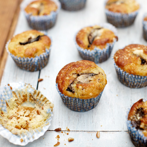 Champignon-pancetta muffins