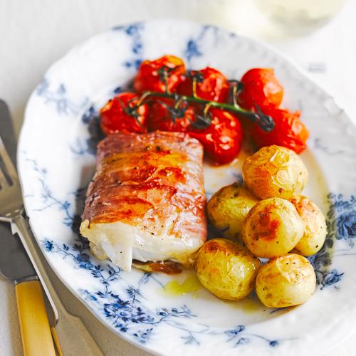 Koolvis met tomaten uit de oven