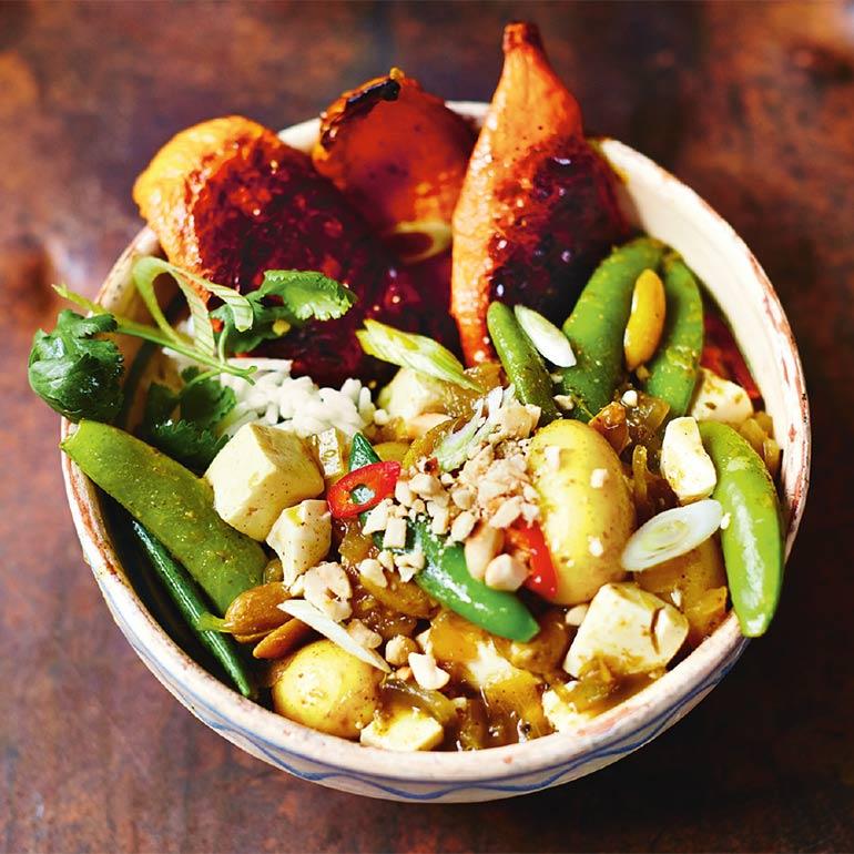 Massaman curry bomvol groente