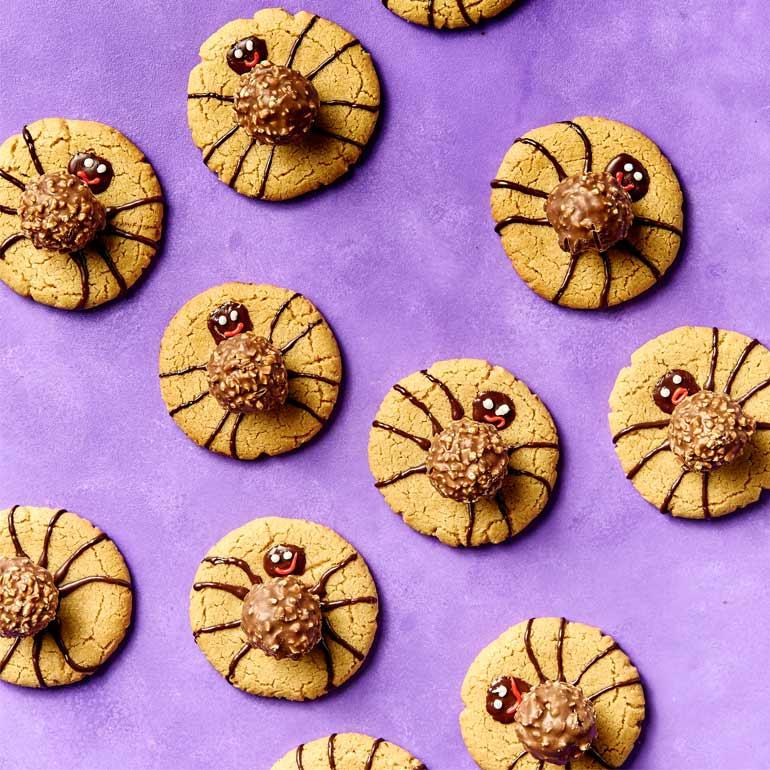 Pindakoekjes met chocolade en nootjes