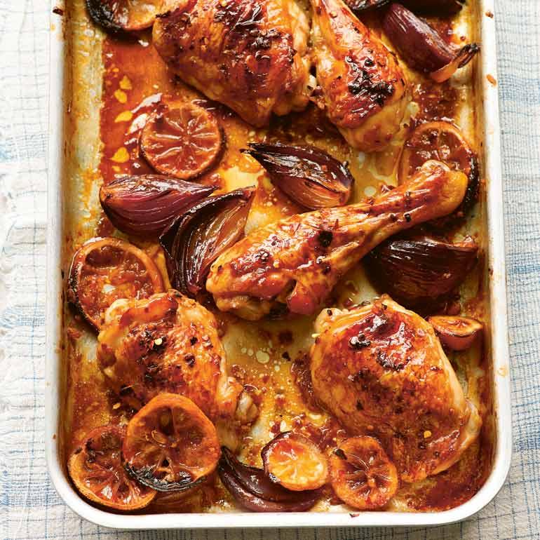 Kip met gember & citroen uit de oven