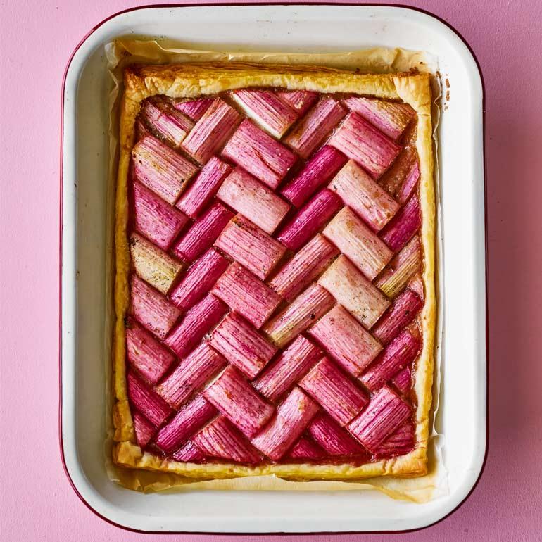 Rabarber-vanille taart